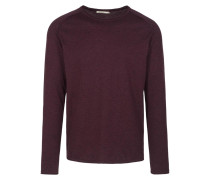 SAMUEL Strickpullover grape red melange