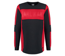 TABIT Sweatshirt black/red