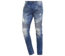 ROCCO MOTO Jeans Straight Leg blue misfit