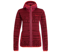 LAVAZE Fleecejacke red on/tawny