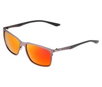 Sonnenbrille - ruthenium grey/red