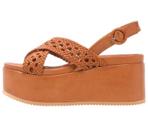 Plateausandalette - brown