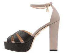 High Heel Sandaletten tan/black