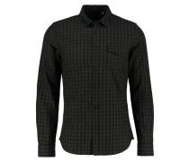 SLIM FIT Hemd black/khaki