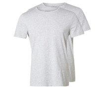 2 PACK TShirt basic light grey melange