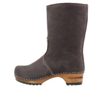 Plateaustiefel anthracite/nude