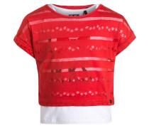 2IN1 TShirt print rouge orangé