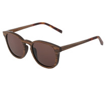 ALFONS - Sonnenbrille - zebrano/solid brown
