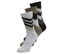 3 PACK Socken khaki/black/greymelange
