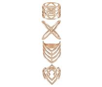 4 PACK Ring rose goldcoloured