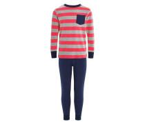 SET Pyjama red/navy