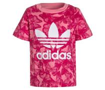 T-Shirt print - easy pink/bold pink/white