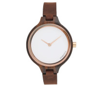 HINZE Uhr ebony/tanned brown
