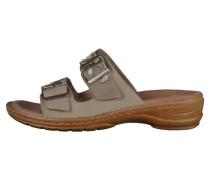 Pantolette flach grigio/platin/silber