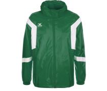 CLASSIC TEAM Regenjacke / wasserabweisende Jacke smaragd/weiß