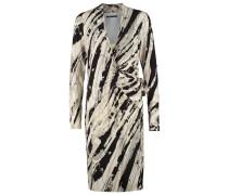 AAMELA Jerseykleid beige/black