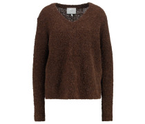 ALPHA Strickpullover dark brown melange