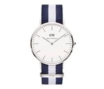 GALSGOW Uhr dunkelblau/silberfarben