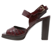 Plateausandalette oxblood