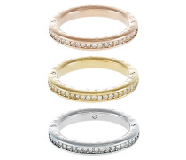 ICONIC 3 PACK - Ring - gold-coloured/rose gold-coloured/silver-coloured