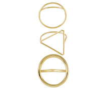 3 PACK - Ring - gold-coloured