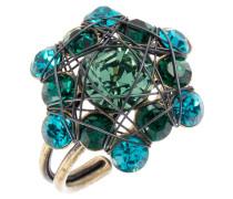 BENDED LIGHTS - Ring - blau/grün/antikmessingfarben