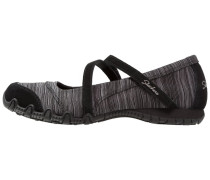 BIKERS RIPPLES Riemchenballerina black