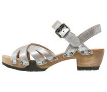JANE Clogs taupe/silber