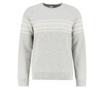 FAIR ISLE Strickpullover grey/white