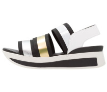 DANILA Plateausandalette black/silver/gold/white