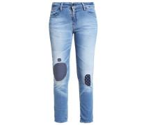 MONROE Jeans Slim Fit destroyed denim