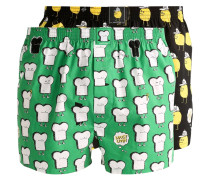 T&Z 2 PACK Boxershorts black/green