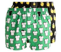 T&Z 2 PACK - Boxershorts - black/green