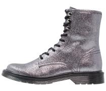 HASTEL Schnürstiefelette metallic grey