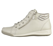 Sneaker high white/silver