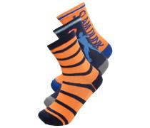 3 PACK Socken white/orange
