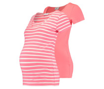 MLLEA 2 PACK - T-Shirt print - sunkist coral