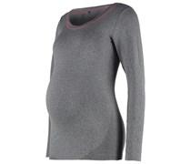 MLFIT Langarmshirt medium grey melange