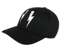 Cap black/off white