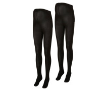 2 PACK Strumpfhose black