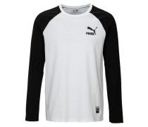 ARCHIVE LOGO Langarmshirt  white/black