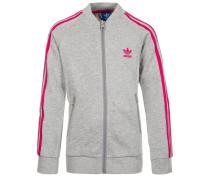 SUPERSTAR - Sweatjacke - medium grey heather/bold pink