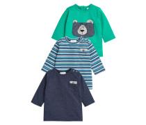 3 PACK TShirt print blue