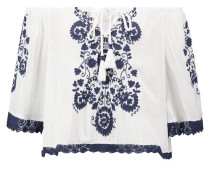 JASMINE Bluse white pring