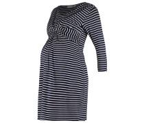 Jerseykleid navy/ecru stripe