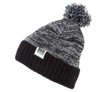Mütze melange/black
