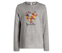 Langarmshirt medium grey heather