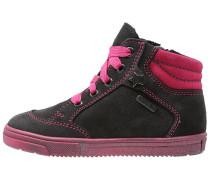Sneaker high steel/fuchsia