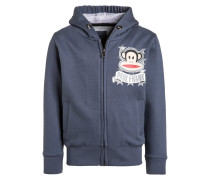 Sweatjacke steel blue