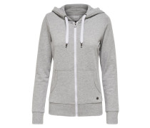 Sweatjacke light grey melange